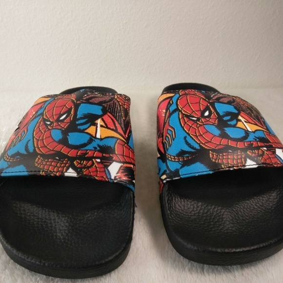 8bda23b40e72 Vans x Marvel SPIDERMAN Slide On Sandals (NEW) Men. NWT
